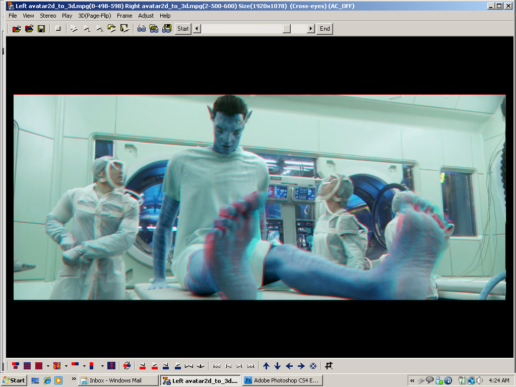 Fácil conversión de 2D a 3D, ejemplo Avatar (James Cameron)