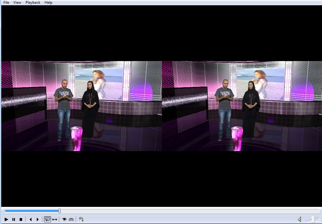 stereoscopic 3d virtual Sets, real time rendering