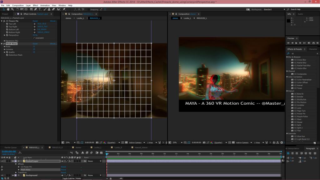 Maya_VR_motion_comic_postprocess