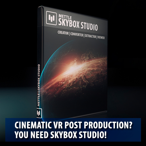 Mettle SkyBox Studio for Cinematic VR Finishing